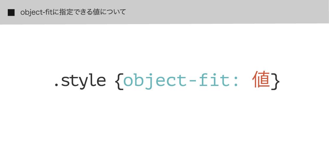 object-fitに指定できる値について