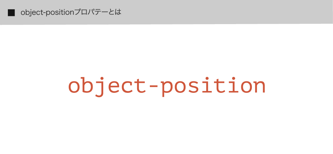 object-positionプロパテーとは