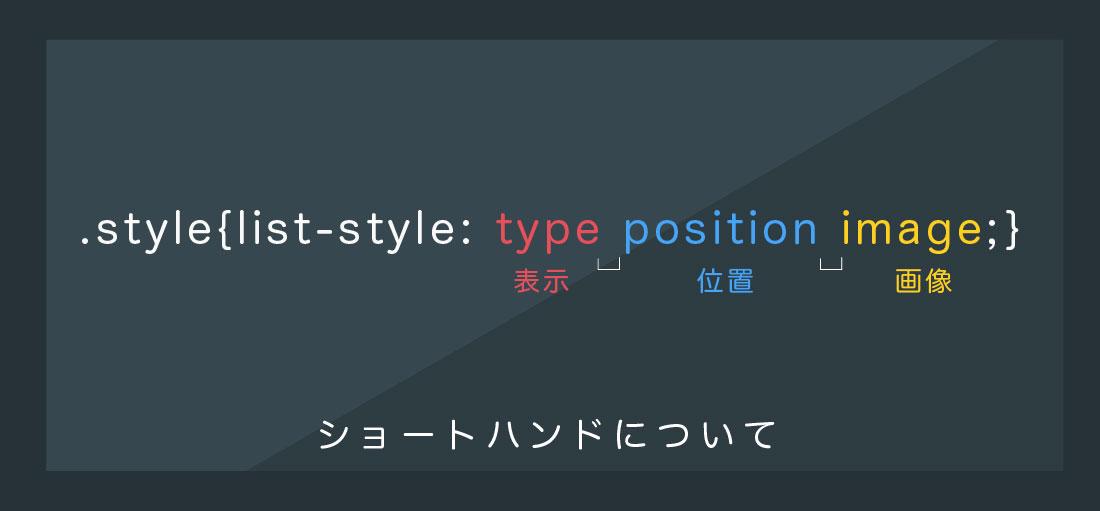 list-styleでショートハンドで記述する方法について