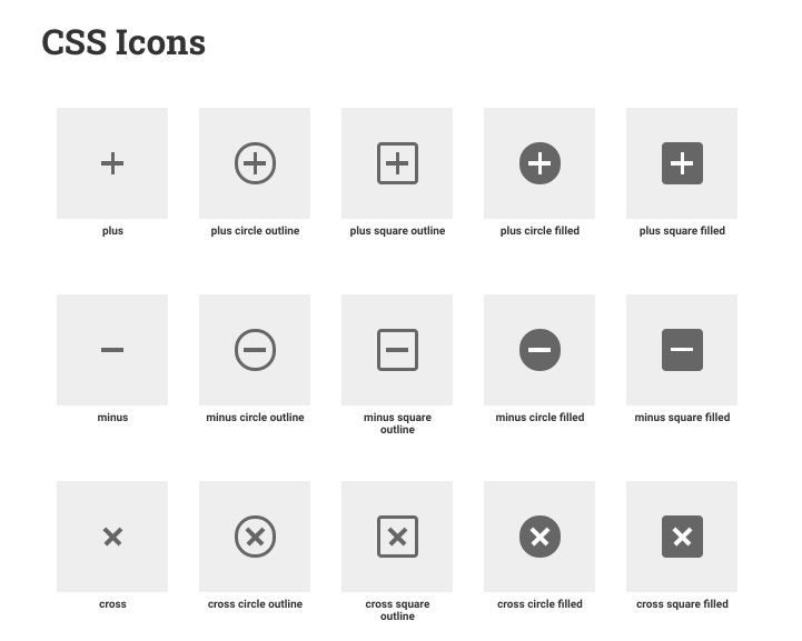 CSS Shapes and Icons Generator